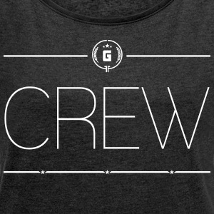 GAMING CREW - THIN - Women's T-shirt with rolled up sleeves