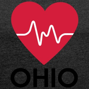 heart Ohio - Women's T-shirt with rolled up sleeves