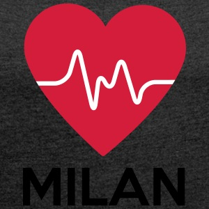 heart Milan - Women's T-shirt with rolled up sleeves