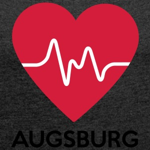 heart Augsburg - Women's T-shirt with rolled up sleeves