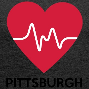 Heart Pittsburgh - Women's T-shirt with rolled up sleeves