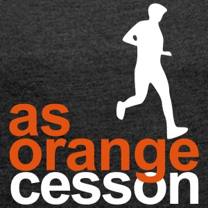 Logo-AS-Orange-White - Women's T-shirt with rolled up sleeves