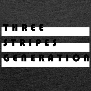 Three stripes generation - Women's T-shirt with rolled up sleeves