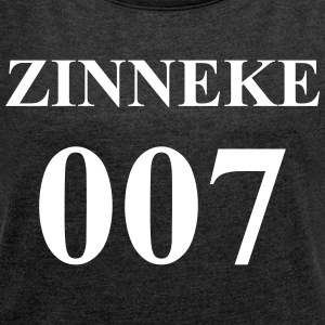 Zinneke 007 - Women's T-shirt with rolled up sleeves