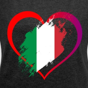 heart Italy - Women's T-shirt with rolled up sleeves