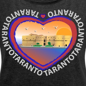 Aragonese Castle in Taranto - Women's T-shirt with rolled up sleeves