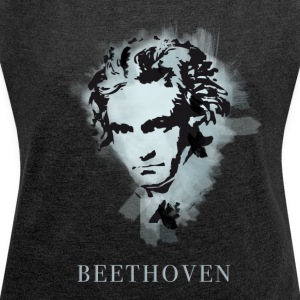 Beethoven Portrait - Women's T-shirt with rolled up sleeves