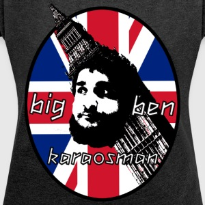 BigBen Karaosman Head Design - No Printing On Back - Women's T-shirt with rolled up sleeves