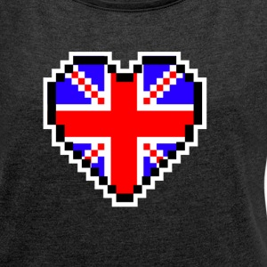 LOVE United Kingdom - Frauen T-Shirt mit gerollten Ärmeln