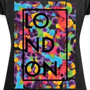 London Art 2 - Women's T-shirt with rolled up sleeves