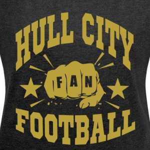 Hull City Fan - Frauen T-Shirt mit gerollten Ärmeln