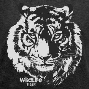 Wildlife · Tiger - Women's T-shirt with rolled up sleeves