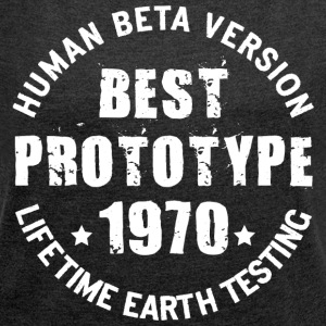 1970 - The year of birth of legendary prototypes - Women's T-shirt with rolled up sleeves