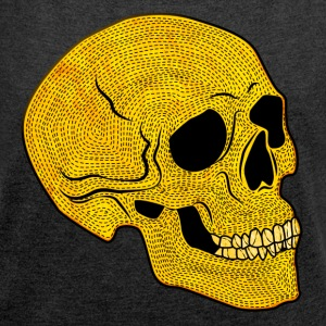 YellowSkull - Women's T-shirt with rolled up sleeves