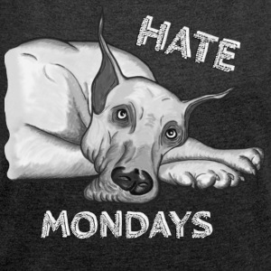 Hate Mondays - Women's T-shirt with rolled up sleeves
