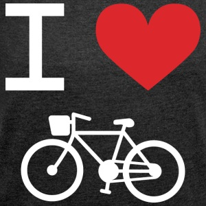 I love Bike - Women's T-shirt with rolled up sleeves