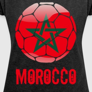 Morocco Soccer - Women's T-shirt with rolled up sleeves