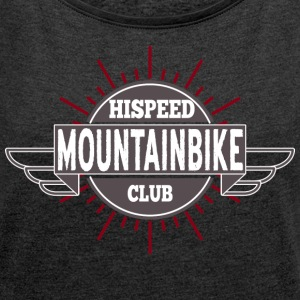 Mountainbike HiSpeedClub - Women's T-shirt with rolled up sleeves