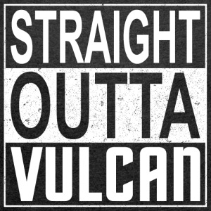 Straight Outta Vulcan (light) - Women's T-shirt with rolled up sleeves