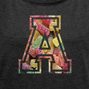 Letter A ala Gummibärchen - Women's T-shirt with rolled up sleeves