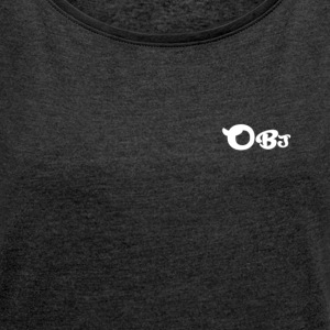OBJ T-Shirt - Women's T-shirt with rolled up sleeves