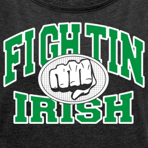 Fighting Irish - T-shirt med upprullade ärmar dam
