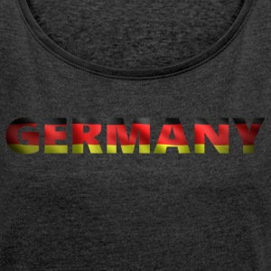 Germany 2 (2541) - Women's T-shirt with rolled up sleeves
