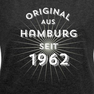 Original from Hamburg since 1962 - Women's T-shirt with rolled up sleeves