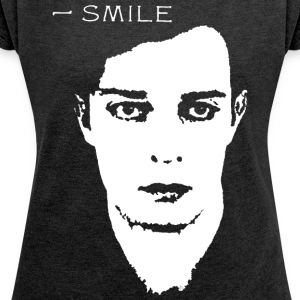 BUSTER_KEATON_SMILE - Women's T-shirt with rolled up sleeves