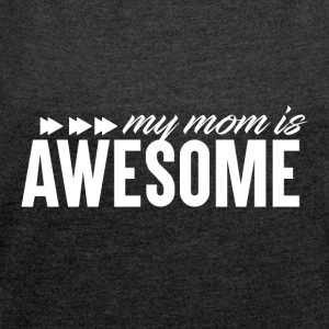 Awesome Mum - Mum Power! - T-skjorte med rulleermer for kvinner