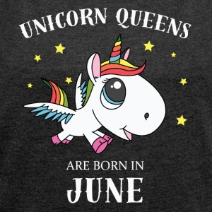 Unicorn queens June - Women's T-shirt with rolled up sleeves