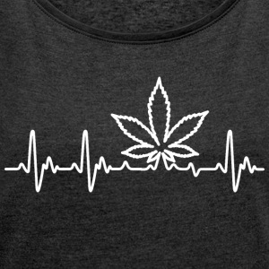 Weedlove - Women's T-shirt with rolled up sleeves