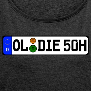 Oldie 50 years history - Women's T-shirt with rolled up sleeves