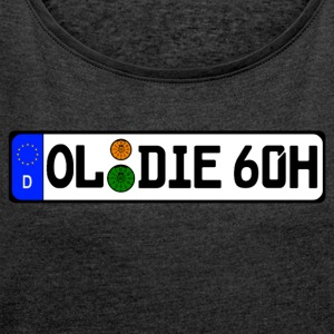 Oldie 60 years history - Women's T-shirt with rolled up sleeves