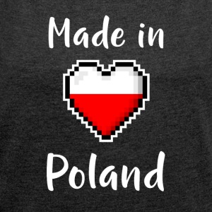Made in Poland - Women's T-shirt with rolled up sleeves