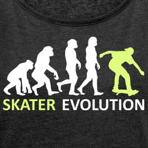 ++ ++ Skater Evolution - Women's T-shirt with rolled up sleeves
