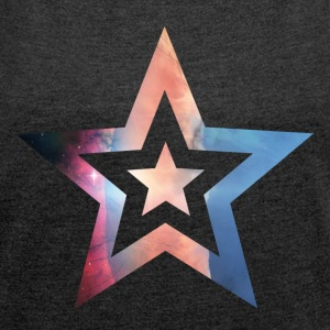 "Star ""Helix"" - Women's T-shirt with rolled up sleeves"