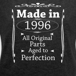 Made in 1996 - Women's T-shirt with rolled up sleeves