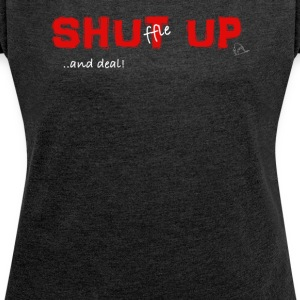 Shuffle up and deal! Poker T-shirt - Maglietta da donna con risvolti