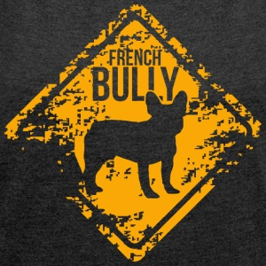 French Bully - T-skjorte med rulleermer for kvinner