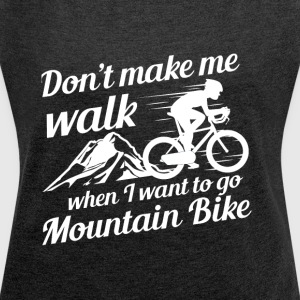 Mountainbike - Women's T-shirt with rolled up sleeves