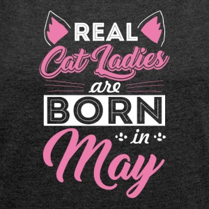 Cats Ladies May - Women's T-shirt with rolled up sleeves