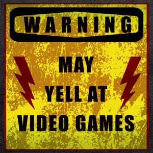 Gamer Warning - Women's T-shirt with rolled up sleeves
