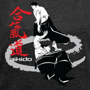 Martial arts Aikido - Women's T-shirt with rolled up sleeves
