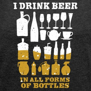 Beer lovers - Women's T-shirt with rolled up sleeves