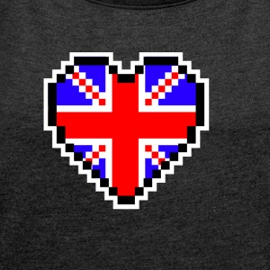 LOVE United Kingdom - Women's T-shirt with rolled up sleeves