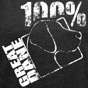 GREAT DANE 100 - T-shirt med upprullade ärmar dam