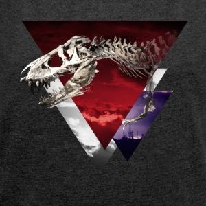 Dinosaur - Women's T-shirt with rolled up sleeves