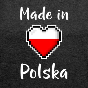 Made in Polska - Women's T-shirt with rolled up sleeves