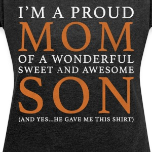 Mother Son Original Gift: Order Here - Women's T-shirt with rolled up sleeves